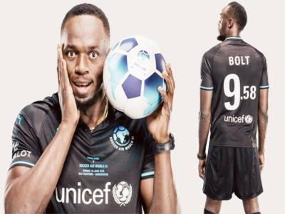 یوسین بولٹ یونیسف کی فٹبال ٹیم کے کپتان بن گئے