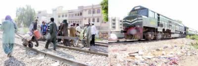کراچی 'شہریوں نے ٹرین کو خوفناک حادثے سے بچالیا