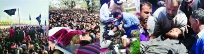 مقبوضہ کشمیر: بھارتی فوج نے17 کشمیری شہید کر دئیے' 100 زخمی ' انڈیا نے خون کی ہولی کھیلی'