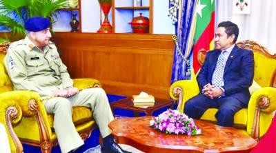 مالدیپ کے ساتھ تعلقات مضبوط کرنے کی ضرورت ہے: قمر جاوید باجوہ