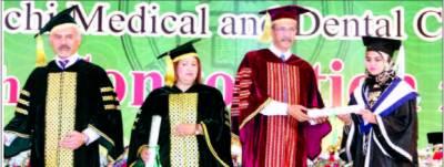 کراچی میڈیکل اینڈ ڈینٹل کالج کا تعلیمی معیار کا موازنہ کسی بھی طبی اداروں سے کیا جاسکتا ہے میئر کراچی
