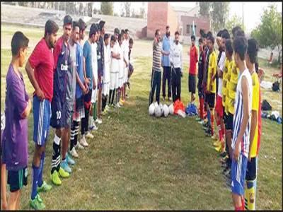 فیصل سٹیڈیم مظفرگڑھ میں فٹبال آگاہی و ٹریننگ کیمپ کا آغاز