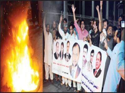 وزیر داخلہ پر قاتلانہ حملہ کیخلاف مسلم لیگ (ن) یوتھ ونگ کا مظاہرہ
