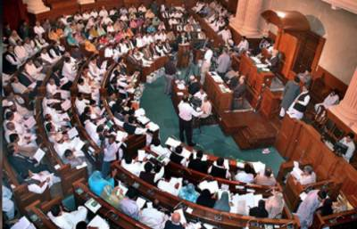 پنجاب : 85 ارب 40 کروڑ روپے سے زائد کا ضمنی بجٹ پیش' نوازشریف کے بیان پر اپوزیشن کا شدید احتجاج' دونوں طرف سے نعر بازی