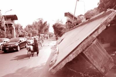 کینال روڈ سے ملبہ ہٹا کر ٹریفک کیلئے کھول دیا گیا