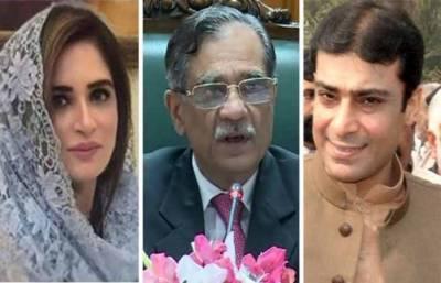 حمزہ عائشہ احد کا چیف جسٹس چیمبر میں راضی نامہ' مقدمات واپس لینے پر رضامند