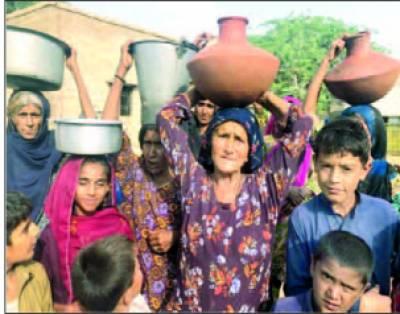 ڈملوٹی کے 15 گوٹھوں میں قلت آب کے خلاف مظاہرہ