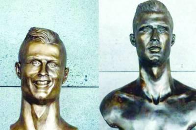 فٹبال ورلڈ کپ کا جنون، کرسٹیانو رونالڈو کا مجسمہ نصب