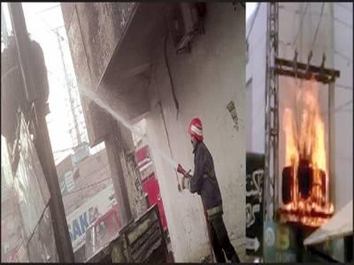 ڈیرہ اڈا کے قریب جنریٹر اور ٹرانسفارمر میں آگ بھڑک اٹھی: ریسکیو ٹیم نے قابو پایا