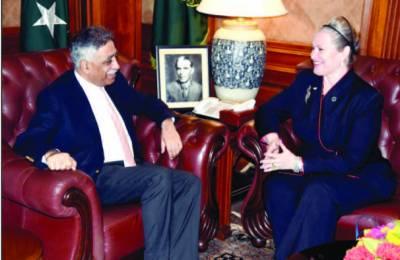 گورنر سے نئی امریکی قونصل جنرل کی ملاقات' تعلقات کے فروغ پر اتفاق