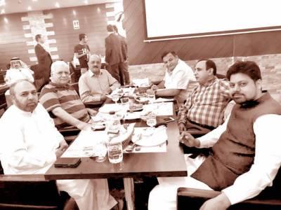 کویت: انصاف ویلفیئر سوسائٹی کے عہدیداروں کی طرف سے پیرامجد کے اعزاز میں عشائیہ