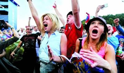 ورلڈ کپ: روس کے کوارٹر فائنل مرحلے میں پہنچنے پر ماسکو میں زبردست جشن