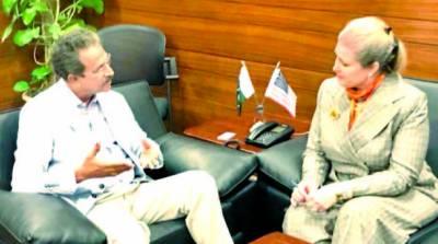 امریکی قونصل جنرل کی میئر سے ملاقات ' دو طرفہ امور پر تبادلہ خیال