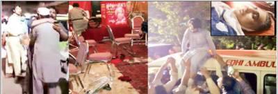 پشاور : اے این پی کے انتخابی جلسہ میں خودکش دھماکہ، ہارون بلور سمیت13شہید:47زخمی