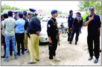 کراچی کے علاقے ملیر میں پو لیس پر حملہ ، سا تھی سمیت زخمی