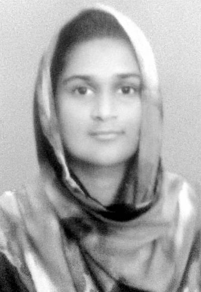 حفصہ الیاس نے میٹرک امتحان میں 1051 نمبر لیکر نمایاں پوزیشن حاصل کر لی