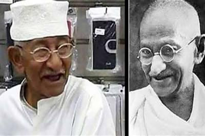 گاندھی کے ہم شکل کی تصویر وائرل