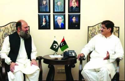 وزیر اعلیٰ بلو چستان جا م کما ل کی مراد علی شاہ سے ملا قات