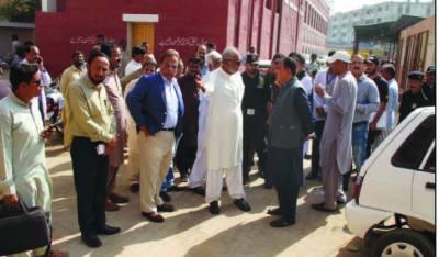 واٹر کمیشن کے سربراہ کا سول اسپتال کا حیدر آباد کادورہ
