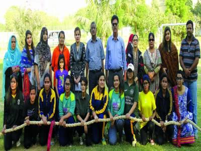 انٹرڈویژن ٹگ آف وار چیمپئن شپ کے لئے کراچی ویمنز ٹیم کے ٹرائلز