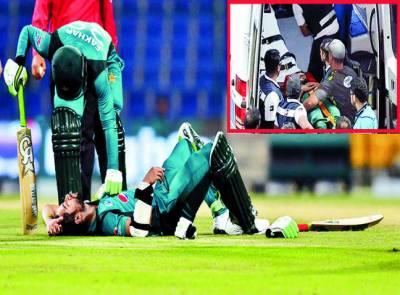 پاکستانی اوپنرامام الحق فرگوسن کا خطرناک باؤنسر لگنے سے زخمی