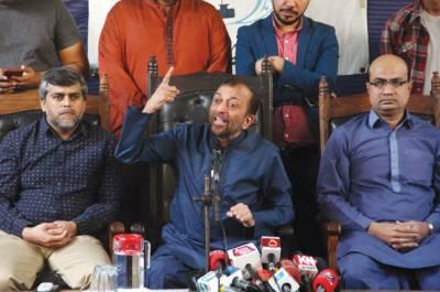 تجاوزات کے نام پر بیدخلی کے خلاف آج مظاہرہ کرینگے' فاروق ستار