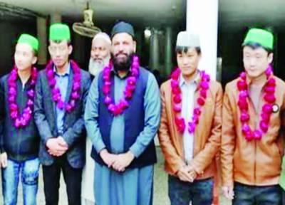 سیالکوٹ: چین سے آئے 4 چینیوں کا قبول اسلام، نئے اسلامی نام بھی رکھ لئے