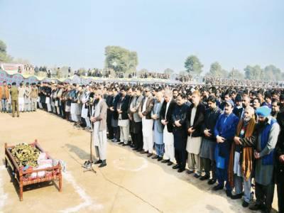 تحریک انصاف کے ایم پی اے مظہرعباس آبائی گائوں میں سپردخاک