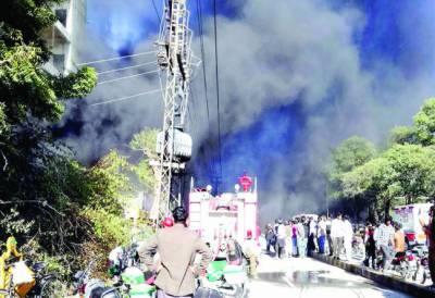 مختلف علاقوں میں آتشزدگی کے واقعات میں لاکھوں روپے مالیت کا سامان جل گیا