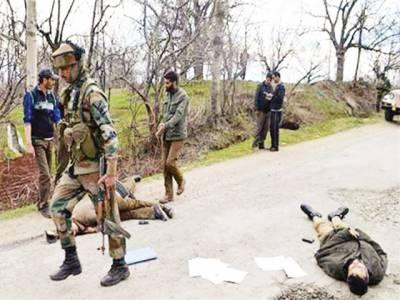 مقبوضہ کشمیر: ایک اور نوجوان شہید، حملے میں 2 بھارتی فوجی ہلاک، زبردست مظاہرے، جھڑپیں