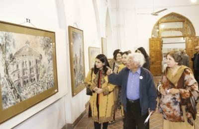 کواپرا آرٹ گیلری میں 12آرٹسٹوں کے فن پاروں کی نمائش