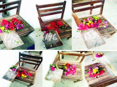 بھکر، ٹریفک حادثے میں جاں بحق طالبات کی نشستوں پر پھول رکھے گئے