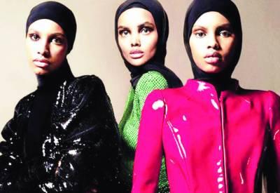 معروف میگزین'' ووگ'' نے پہلی بار سر ورق پر تین با حجاب ماڈلز کو جگہ دی