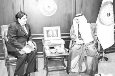 سفیر راجہ اعجاز کی سیکرٹری جنرل او آئی سی سے ملاقات کشمیر سمیت اہم معاملات پر حمایت پر اظہارتشکر