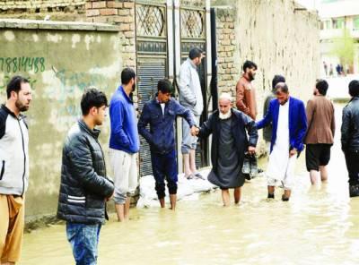افغانستان میں طوفانی بارش' 5 افراد جاں بحق' 17 لاپتہ' سینکڑوں گھر تباہ