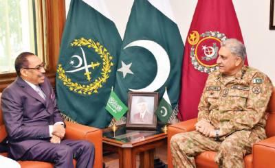 جنرل باجوہ سے سعودی نائب وزیردفاع کی ملاقات، سکیورٹی تعاون علاقائی صورتحال پر تبادلہ خیال