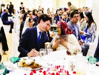 کینیڈا کے وزیراعظم،جسٹن ٹروڈو کا پاکستانی کمیونٹی کے ساتھ افطار