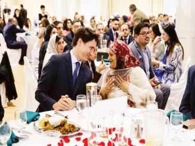 جسٹن ٹروڈوکا پاکستانی کمیونٹی کے ساتھ افطار