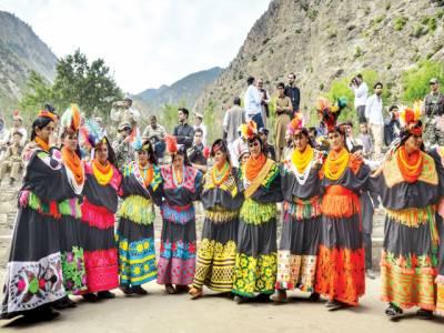 کیلاش قبیلے کا سالانہ جوشی تہوار ختمآخری روز جوڑوں کی شادی رسومات