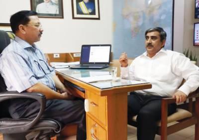 صدر سندس فاؤنڈیشن کی ڈائریکٹر ایڈمنسٹریشن نوائے وقت گروپ سید ندیم قادری سے ملاقات