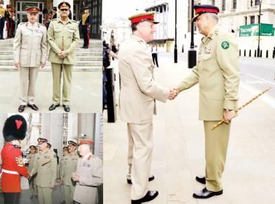 جنرل باجوہ ی برطانوی عسکری قیادت سے ملاقات، جیوسٹرٹیجک صورتحال، فوجی تعاون بڑھانے پر تبادلہ خیال