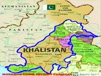 خالصتان نے نیا نقشہ جاری کر دیا' بھارت کو درجنوں چھوٹی ریاستوں میں تقسیم دکھایا گیا