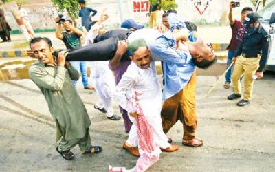 کراچی، وزیر اعلیٰ ہائوس جانیوالے اساتذہ پر پولیس اہلکار کا لاٹھی چارج شیلنگ ، مذاکرات کے بعد احتجاج ختم