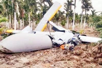 بھارت میں تیار ڈرون آزمائشی پرواز کے دوران ہی گر کر تباہ