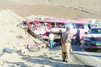 بابو سر ٹاپ: بس پہاڑ سے ٹکرا گئی، 10فوجیوں سمیت 27جاں بحق: 15 زخمی