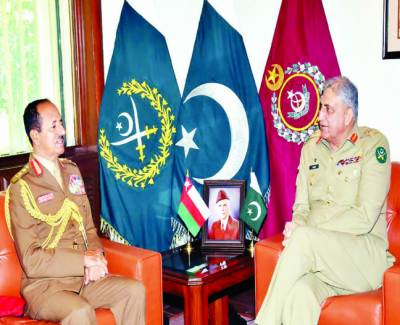جنرل باجوہ سے عمان کے فوجی سربراہ کی ملاقات، دہشتگردی کیخلاف پاکستانی کامیابیوں کو سراہا