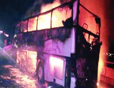 مدینہ منورہ: ٹرک کی ٹکر سے بس میں آتشزدگی، 35 عمرہ زائرین شہید، اکثریت پاکستانیوں کی ہے