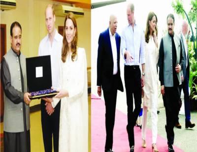 شہزادہ ولیم اور کیٹ میڈلٹن کا لاہور میں والہانہ استقبال، تعلقات مزید مستحکم ہونگے: عثمان بزدار