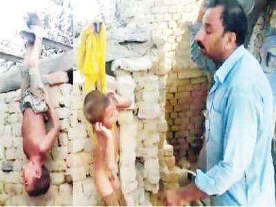 اوکاڑہ: 2 بھتیجوں پر برہنہ لٹکا کر تشدد، وزیراعلیٰ کا نوٹس، ملزم گرفتار