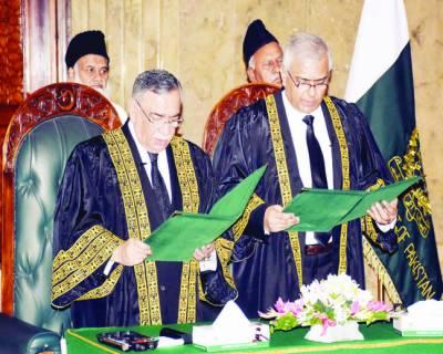 جسٹس امین الدین خان نے بطورجج سپریم کورٹ عہدے کا حلف اٹھا لیا